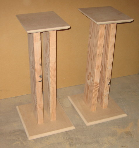 wood speaker stands plans