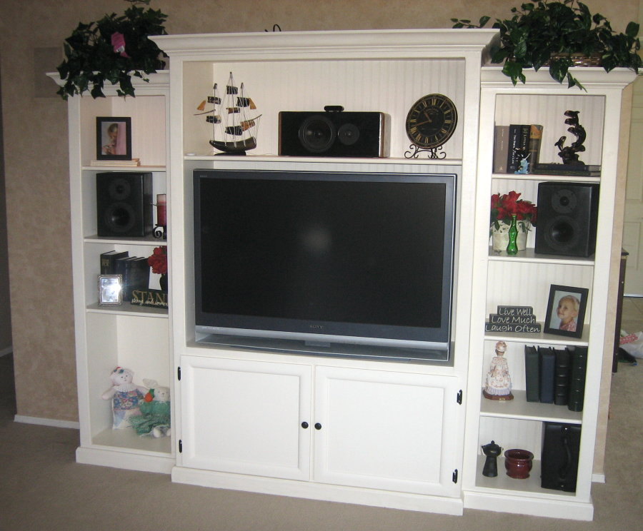 Custom Built Entertainment Center DIY
