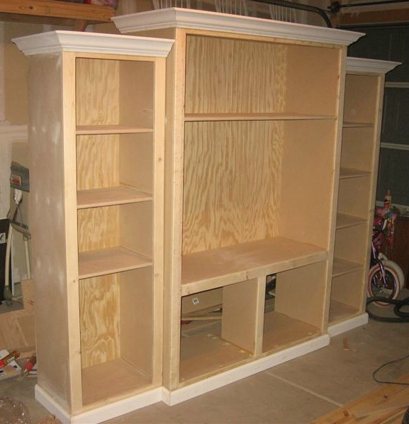 Woodworking diy built in home entertainment center plans Custom build a house online