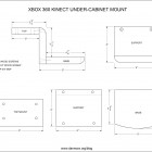 cad-drawingkinect-mount