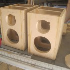 Holes cut for woofer and tweeter