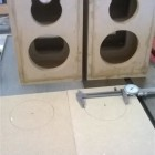 "1/4"" MDF on front allows tweeter to be flush-mounted"